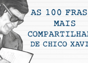 AS 100 FRASES MAIS COMPARTILHADAS DE CHICO XAVIER
