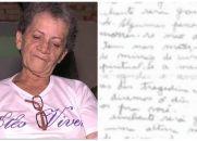 Carta psicografada ajuda mãe a localizar filho morto no Ceará