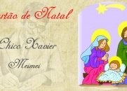 Cartão de Natal - Chico Xavier e Meimei