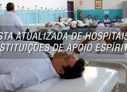 LISTA ATUALIZADA DE HOSPITAIS  E INSTITUIÇÕES DE APOIO ESPÍRITAS NO BRASIL