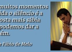 Em muitos momentos o silêncio é a resposta mais sábia que podemos dar - Padre Fábio de Melo