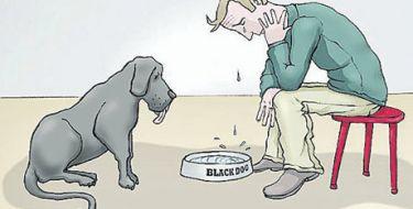 Um cachorro preto chamado DEPRESSÃO!