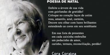 Poesia de Natal de Cora Coralina - Enfeite a árvore de sua vida com guirlandas de gratidão!