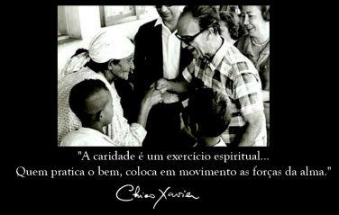 A caridade é um exercício espiritual... Quem pratica o bem, coloca em movimento as forças…