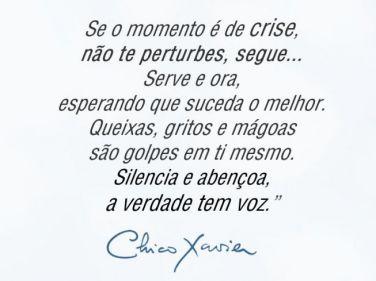 Se o momento é de crise, não te perturbes, segue... Serve e ora, esperando que…