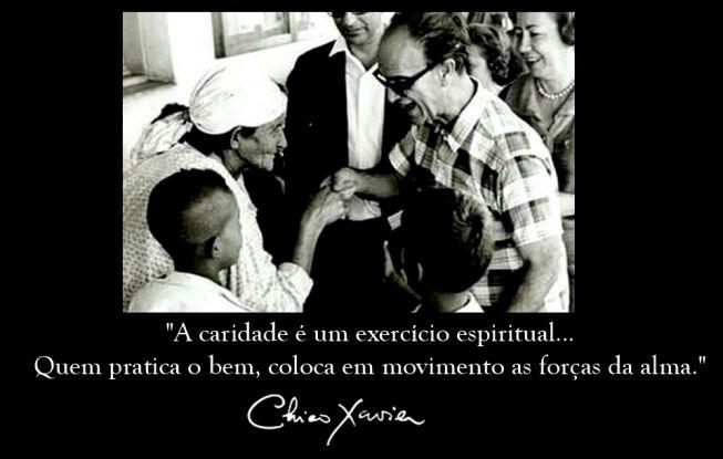 Mensagens De Chico Xavier Para Facebook: A Caridade é Um Exercício Espiritual...